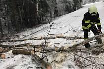 Zásahy solenických dobrovolných hasičů v souvislosti s vydatným sněžením v neděli 3. února 2019.