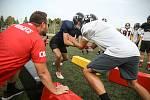 Zranění občas přijdou. Jsou ale podle trenéra srovnatelné s ostatními sporty, podobná zranění může hráč utrpět při hokeji či fotbale. Americký fotbal je sport spíše kolizní než konfliktní, podotýká.