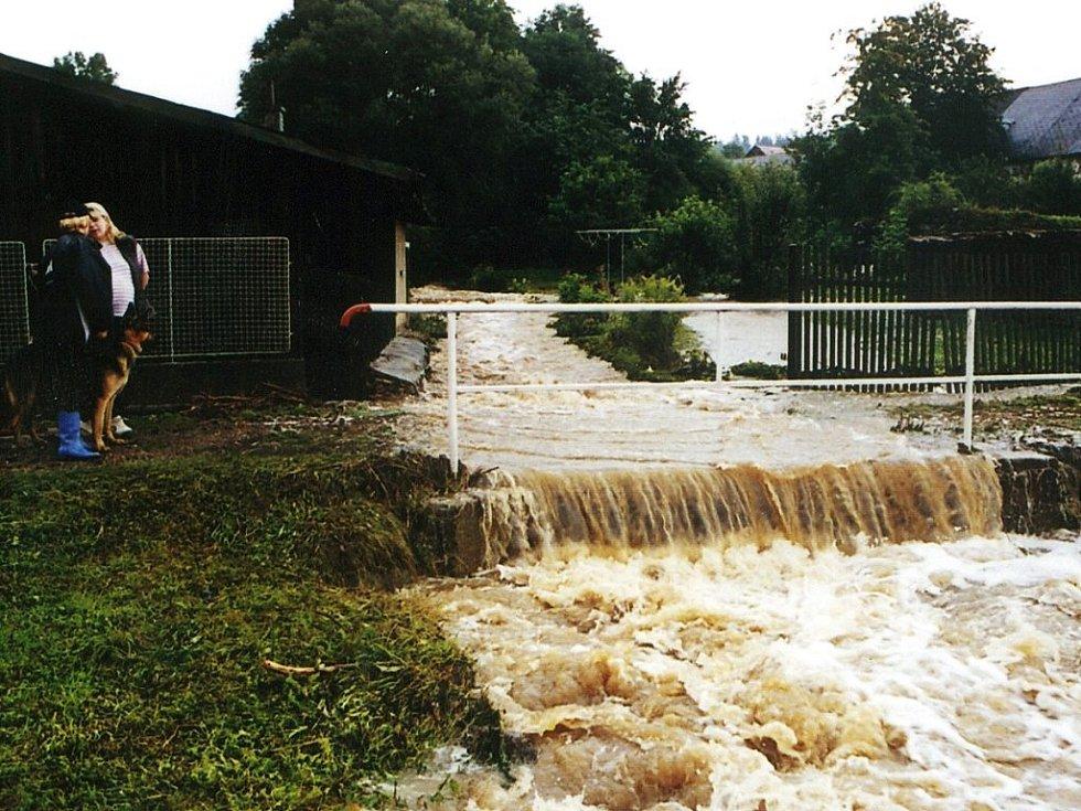 Povodně v roce 2002 v Bukové na Rožmitálsku