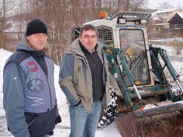 Zahájení stavby kanalizace v Oborách.