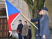V Hluboši slavili výročí republiky průvodem a hymnou.