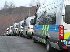 Policejní razie v Příbrami.