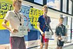 Berounští plavci Štěpán Palata a Jan Valečka získali medaile na plzeňském Mistrovství České republiky v plavání