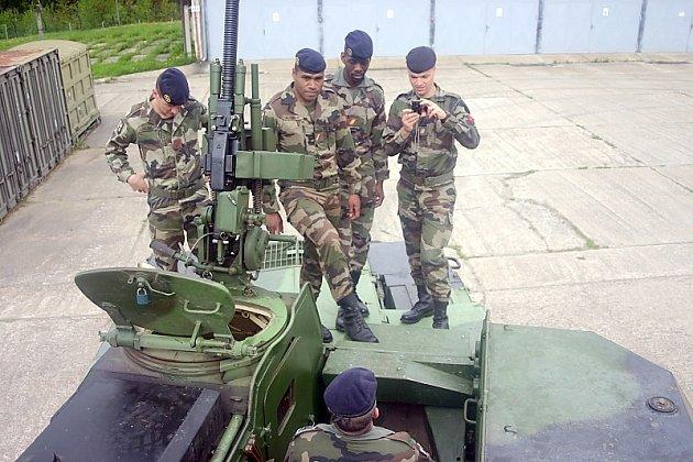 Francoužští dělostřelci v jinecké posádce.