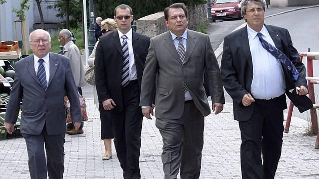 Jiří Paroubek s Josefem Řihákem, starostou Příbrami