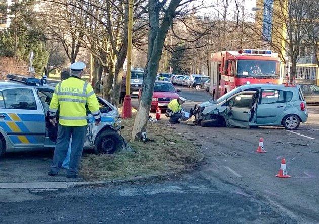 Nehoda ve Školní ulici v Příbrami.