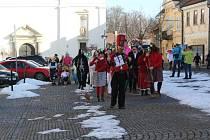 V sobotu odpoledne patřilo centrum Březnice masopustnímu reji masek.