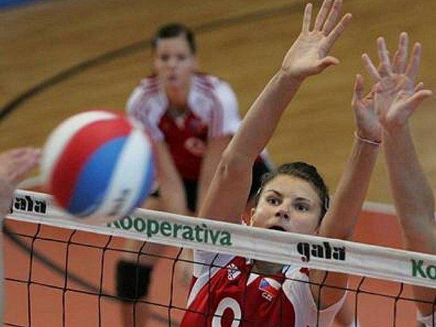 Andrea Kossányiová v dresu české reprezentace juniorek.