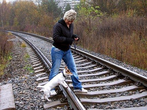 Stávající přechod pře železniční trať u Junior klubu dělá problémy jak pěším, tak i například cyklistům