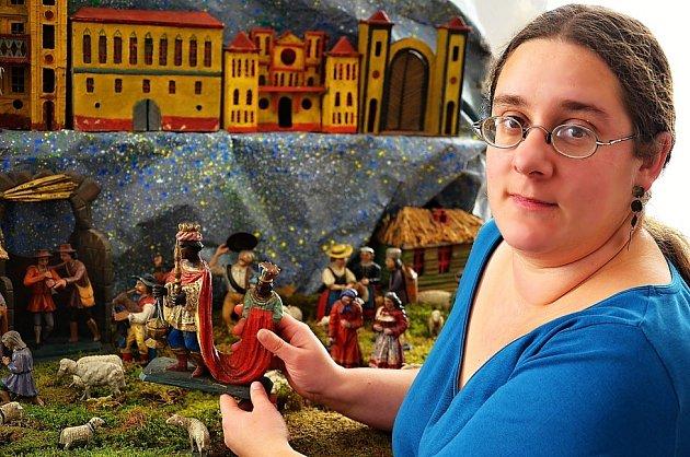 Výstava betlémů v Zámečku v Příbrami.