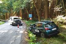 Dopravní nehoda na silnici od Starého Smolivce na Planiny