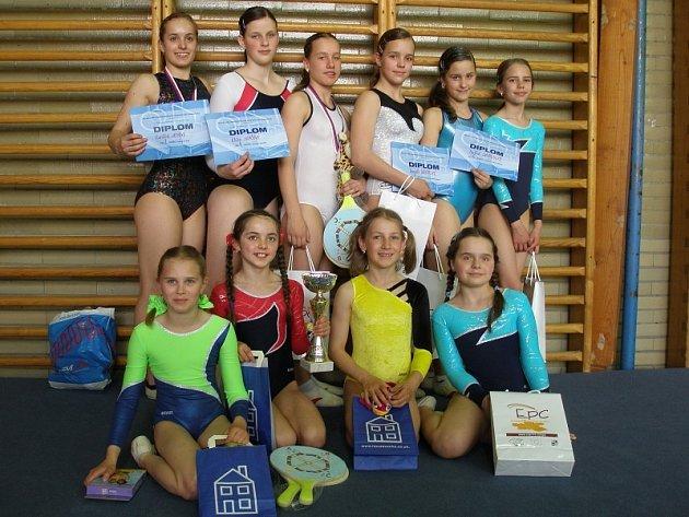 Příbramské gymnastky byly na závodech v Hradci Králové.