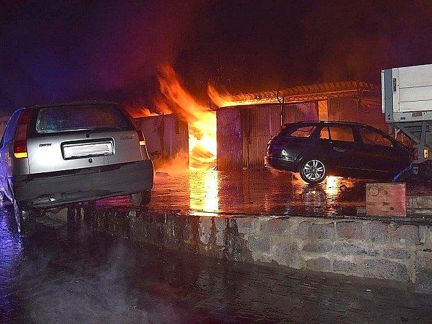 Požár v Dublovicích.