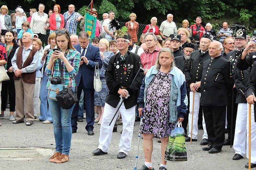 Sobotní hornické slavnosti na Březových Horách, jejichž součástí bylo otevření nové dlouho připravované výstavní expozice na Anně.