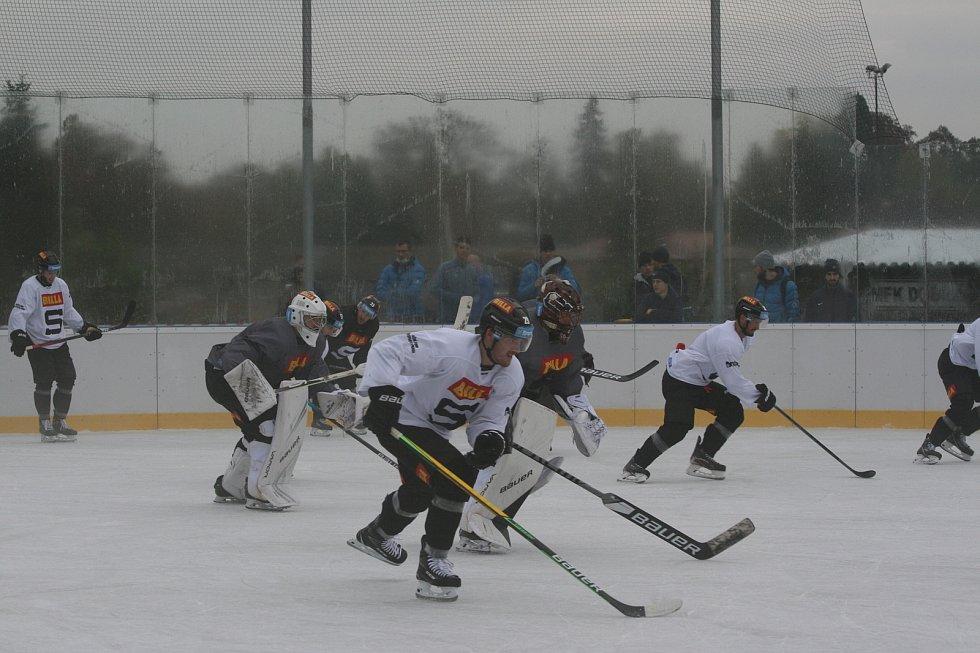 Trénink HC Sparta Praha v Dobříši.