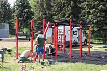Zítra se pro veřejnost otevře nové workoutové hřiště.
