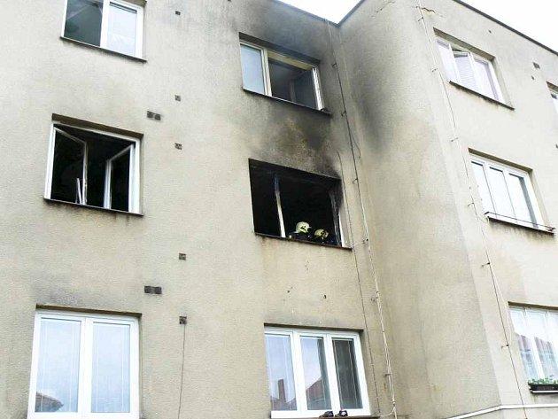 Požár v Petrovicích.