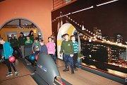 Vánoční večírek rybářského kroužku na bowlingu Amerika v Rožmitále pod Třemšínem.