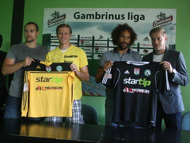Zleva: Jan Starka, Lukáš Krbeček, Fernando Neves a Petr Větrovský.