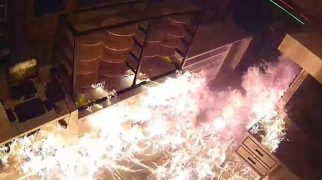 Požár pizzerie v Pražské ulici v Příbrami - zapálení provozovny.