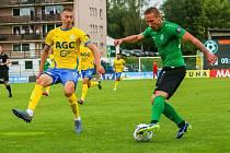 Ze zápasu úvodního kola FORTUNA:LIGY 2020/2021 1. FK Příbram - FK Teplice 1:3.