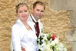 V příbramském Zámečku si řekli své ano v pátek 30. července Tereza Hrubešová a Václav Piskáček. Svatební obřad se konal v 11 hodin.