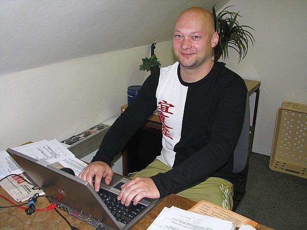 David Černý při ON - LINE rozhovoru