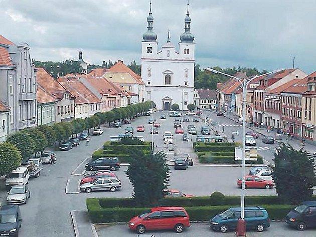 Ilustrační foto: Pohled na náměstí v Březnici