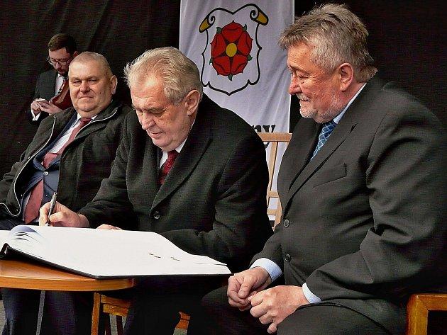 Návštěva prezidenta Miloše Zemana v Sedlčanech.