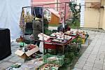 K nákupům zeleniny, ovoce, medu, adventní výzdoby a horkých nápojů návštěvníkům zahrál koledy Pokleslý orchestr lidových umění Dobříš.