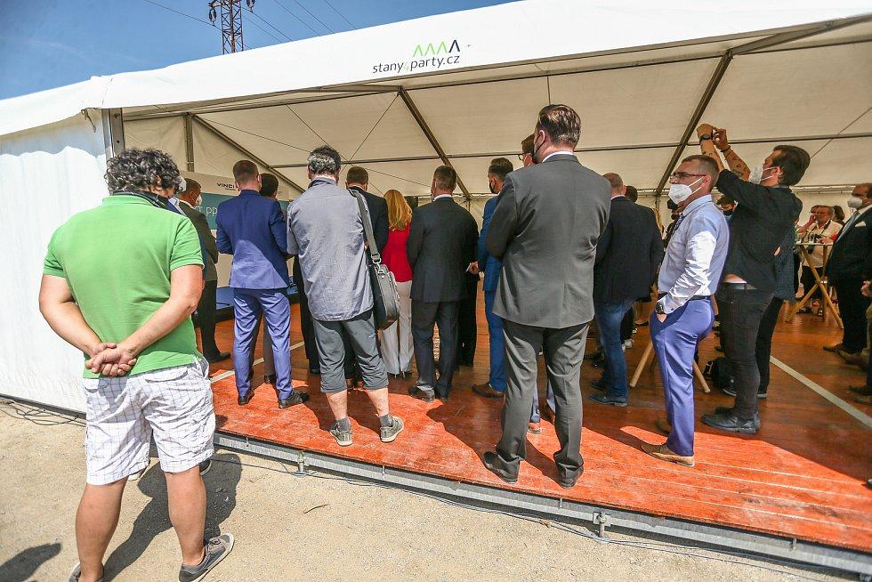 Slavnostní zahájení dostavby dálnice D4 v úseku Příbram - Písek v pondělí 7. června 2021.
