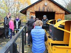V areálu Ševčinského dolu byl připraven zábavný program nazvaný Havířské šprýmování.