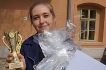 Soutěže v čepování piva v Žatci se zúčastnili i studenti Integrované střední školy v Příbrami.