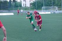 Zápas Superligy malého fotbalu Příbram - Praha.