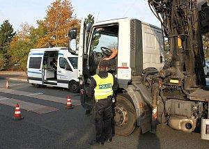 Policie se koncem týdne zaměřila na nákladní auta