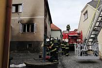 Exploze plynu poškodila rodinný dům v Březnici.