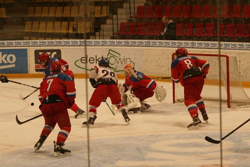 Hokejová reprezentace do 18 let odehrála s Ruskem tři přípravné zápasy