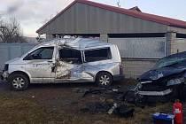 K dopravní nehodě došlo v sobotu 8. února 2020 v obci Hluboš na Příbramsku.