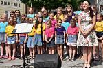 Koncert na Václavském náměstí v Příbrami v rámci Hudebního festivalu Antonína Dvořáka.