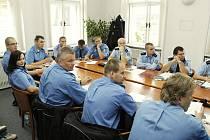 Společný seminář příbramských strážníků a policistů.