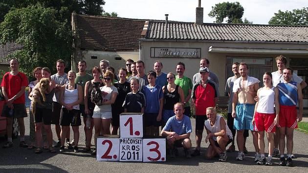 Účastníci 3. ročníku Příčovského lidového běhu.