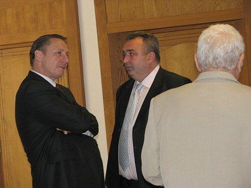 Martin Langmajer před líčením u příbramského soudu