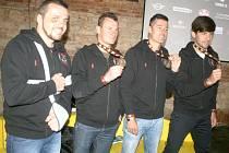 Zleva: Lukáš Kvapil, Michal Mrkva, František Tomášek a Martin Macík.