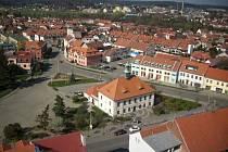 Mírové náměstí v Dobříši.