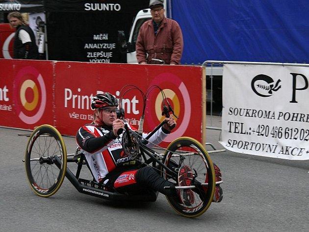 MČR v handbike: Honza Tománek obhájil druhé místo.