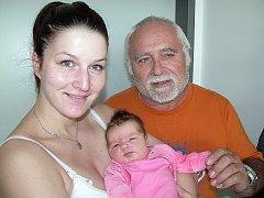 Natálie Nikola Hamranová, první štěstíčko maminky Nikoly a tatínka Ladislava z Prahy,  prvně otevřela očka ve čtvrtek 19. května a v ten den vážila 4,20 kg  a měřila 52 cm. Do porodnice ji přišel navštívit dědeček Ladislav.