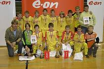 Vítězné družstvo dvoudenního mezinárodního turnaje v Třeboni - FK Marila Příbram.