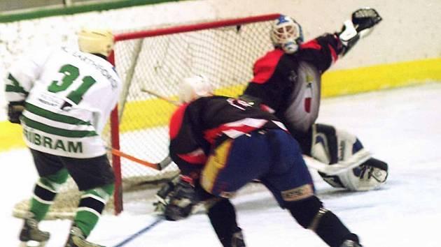 Hokejisté Příbrami ukončili první polovinu sezony vysokou výhrou 12:1.