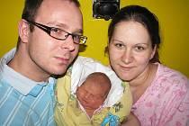 Od středy 18. ledna mají maminka Ladislava a tatínek Tomáš z Velké Hraštice radost ze svého prvního štěstíčka – dcerky Karolínky Soukupové, která v ten den vážila 3,62 kg a měřila 52 cm.