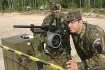 Simulace střelby z děl přístrojem CP-34.
